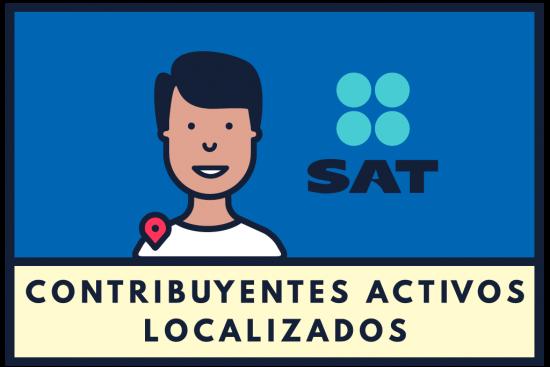 Contribuyentes activos localizados